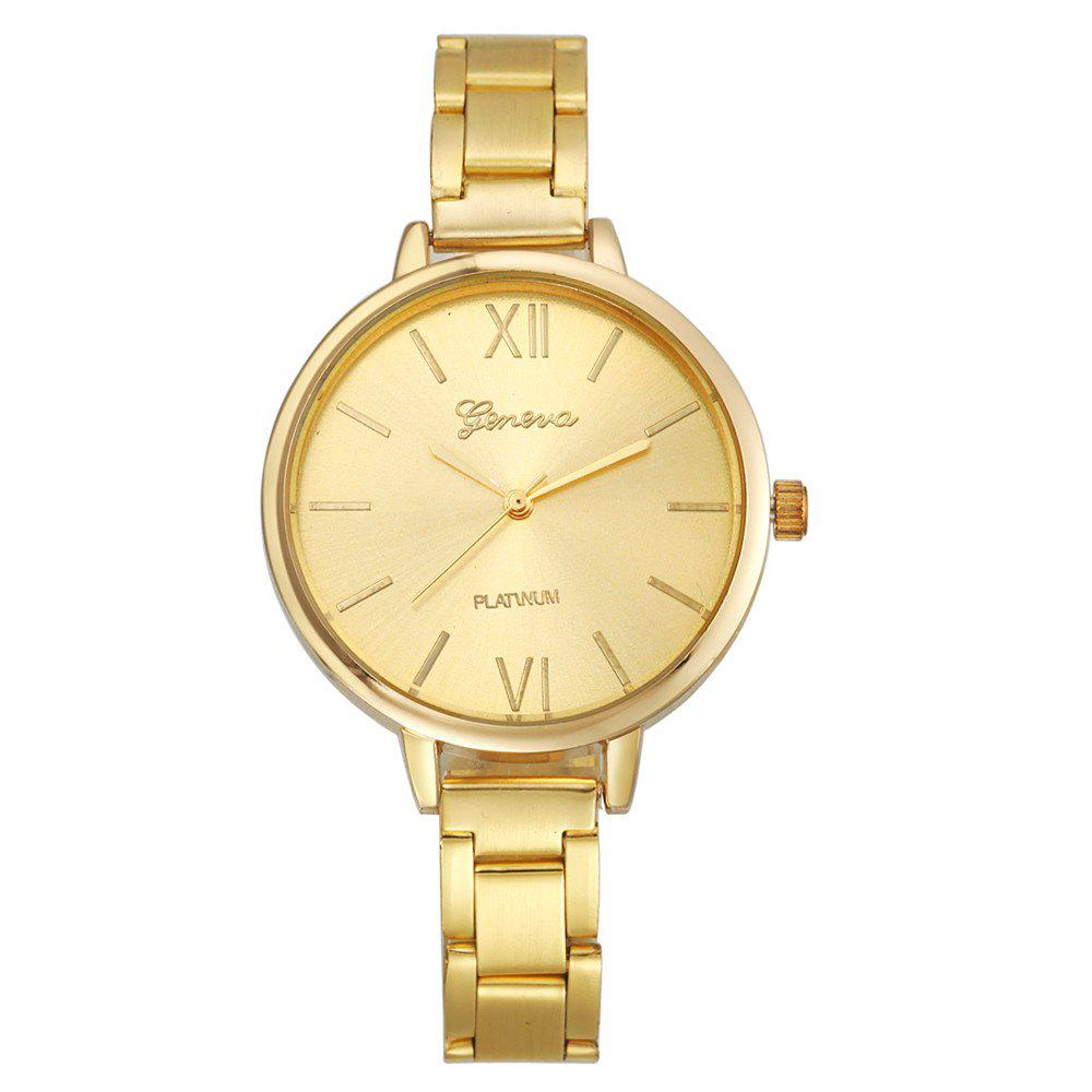 Classic Gold Silver Rose Gold Fashion Women Small Steel Band Thin Band Watch - GOLD