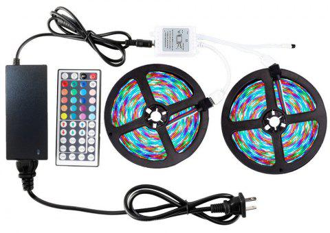ZDM 2 x 5M 2835RGB LED Strip Light 44Key IR Controller 12V3A Power Supply  Suit - multicolor B US