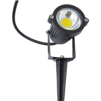 7W COB  Waterproof Outdoor Garden Low Voltage AC12V Lawn Lamp Spiked Stand 2PCS - BLACK 4500 - 5000K
