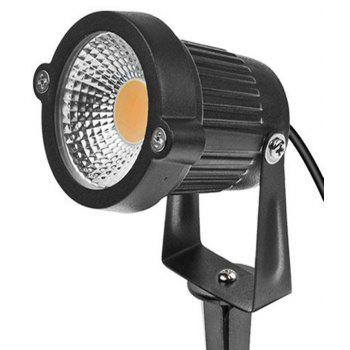 7W COB  Waterproof Outdoor Garden Low Voltage AC12V Lawn Lamp Spiked Stand 2PCS - BLACK 3000K-3500K