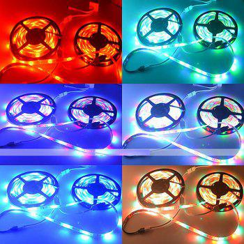 ZDM 2 x5M Waterproof 2835RGB LED Strip Light 44Key Controller 12V3A Power Supply - multicolor A US