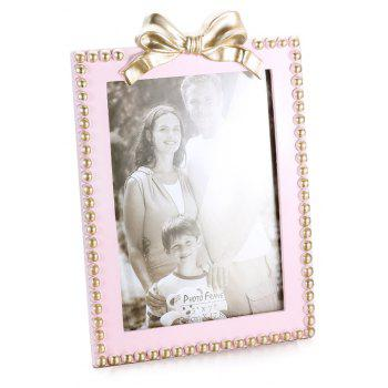 Bz-06 Home Decoration Simple Three-Dimensional Bow Photo Frame - PIG PINK
