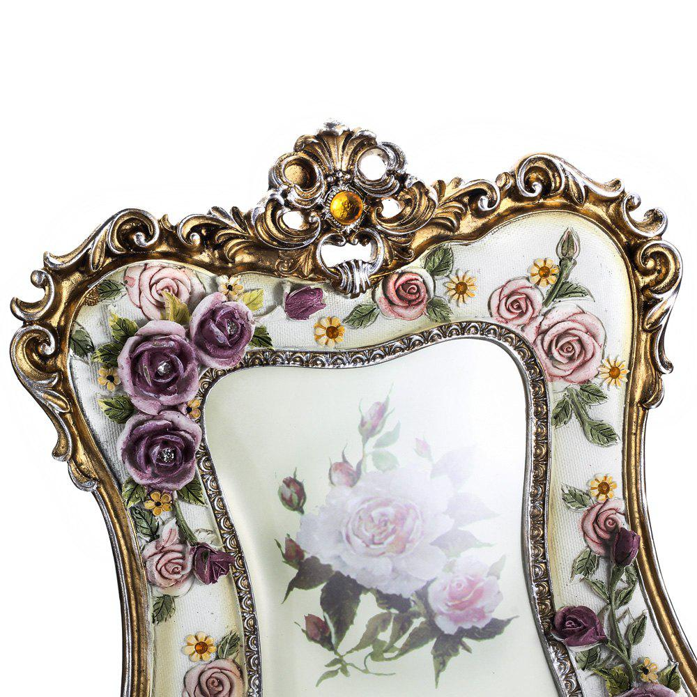 2018 bz-08 Painted Rose Resin Photo Frame WHITE In Other Novelty ...