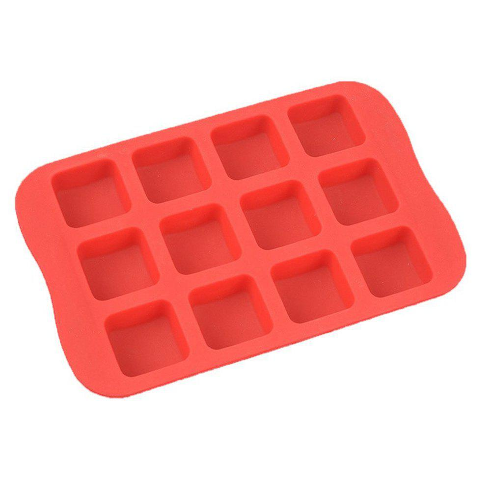 Square Shape Silicone Ice Cube Mold DIY Cake Jelly Chocolate Whisky Tray 3d snowflake hexagon shape silicone mold biscuit fondant jelly pudding chocolate mold diy cake decoration tools