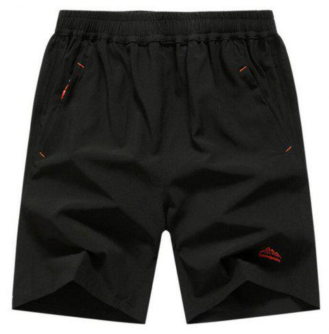 Men's Plus Size Outdoor Fast Drying Summer Sports Shorts - BLACK 4XL