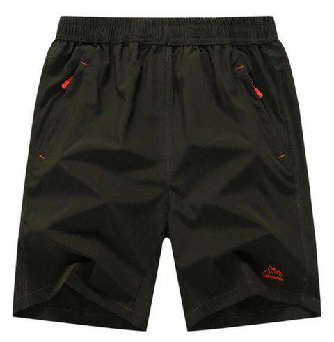 Men's Plus Size Outdoor Fast Drying Summer Sports Shorts - ARMY GREEN 2XL
