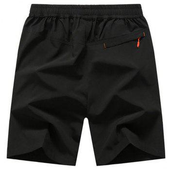Men's Plus Size Outdoor Fast Drying Summer Sports Shorts - BLACK 5XL