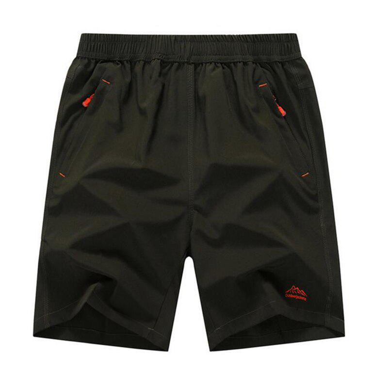 Men's Plus Size Outdoor Fast Drying Summer Sports Shorts - ARMY GREEN 7XL
