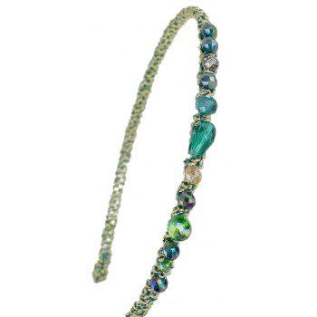 Blue Green Red Color Elastic Hairband - GREEN