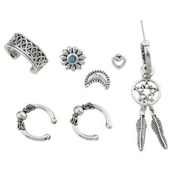 Antique Silver Color Chic Ear Cuff Cartilage Women Clip - SILVER