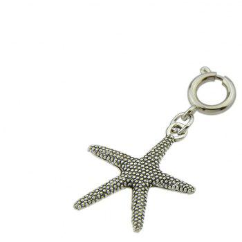 Antique Silver Color Leaf Starfish Shell Hair Plate Decoration - GRAY CLOUD