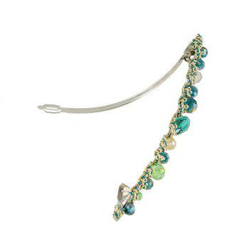 Blue Green Red Colorful Beads Barrettes Luxury Hair Clip - DARK TURQUOISE