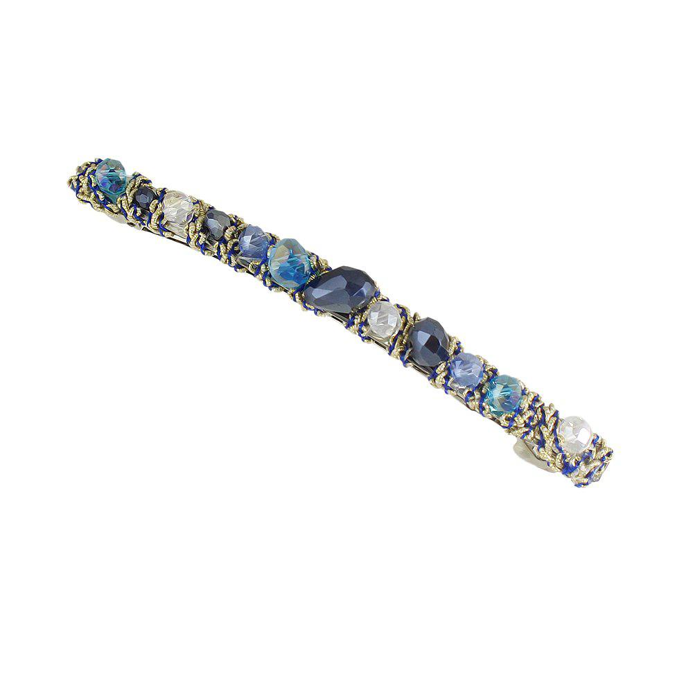 Blue Green Red Colorful Beads Barrettes Luxury Hair Clip - ROYAL BLUE