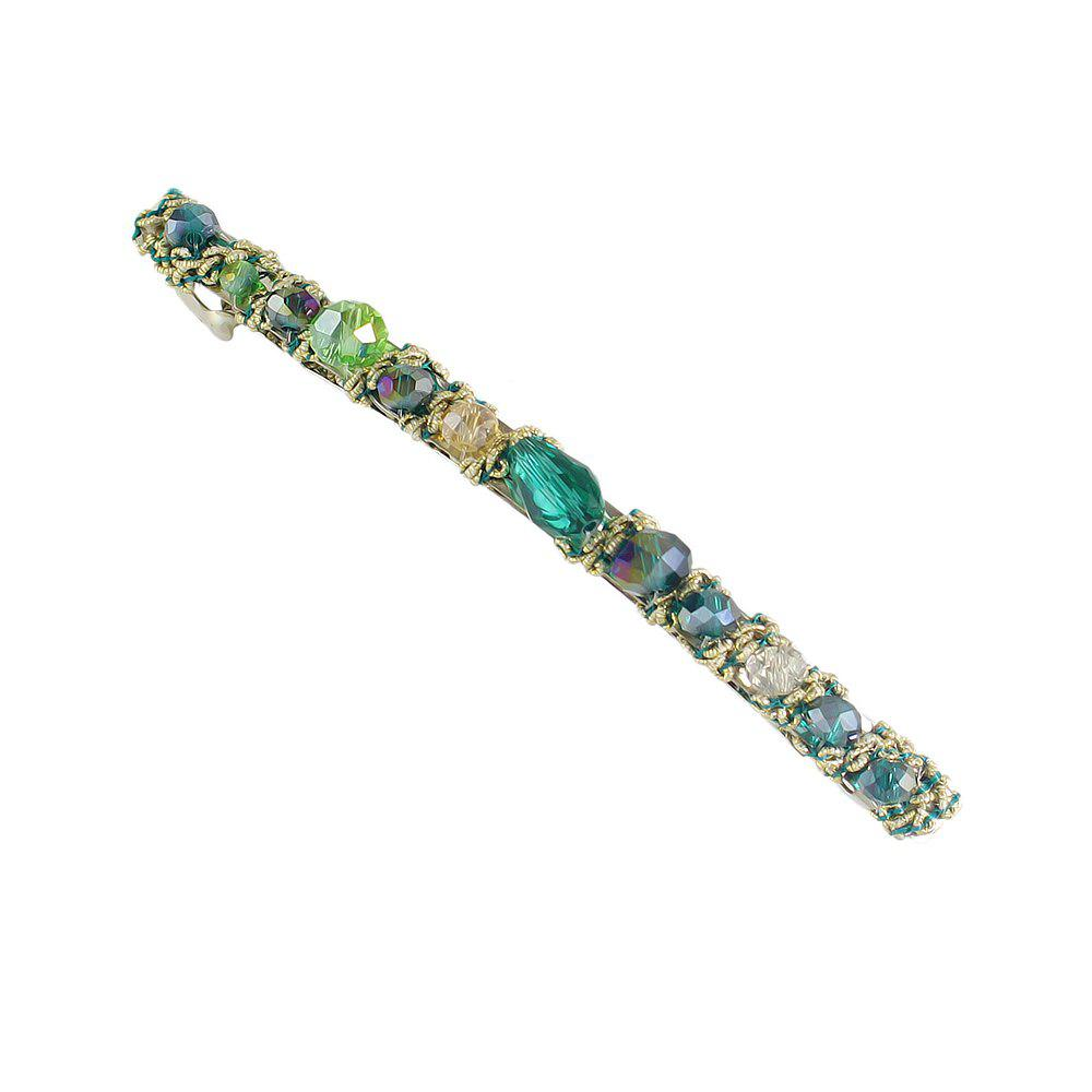 Blue Green Red Colorful Beads Barrettes Luxury Hair Clip colorful flower pattern barrettes hair clip