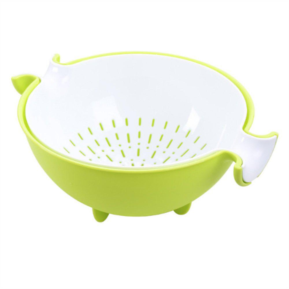 Multi Functional Rotating Plastic Circular Double Layer Asphalt Basket - GREEN