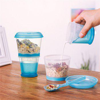 Breakfast Drink Cups Portable Yogurt and Cereal To-Go Container Cup - DAY SKY BLUE