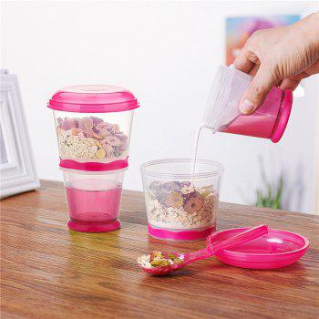 Breakfast Drink Cups Portable Yogurt and Cereal To-Go Container Cup - TULIP PINK