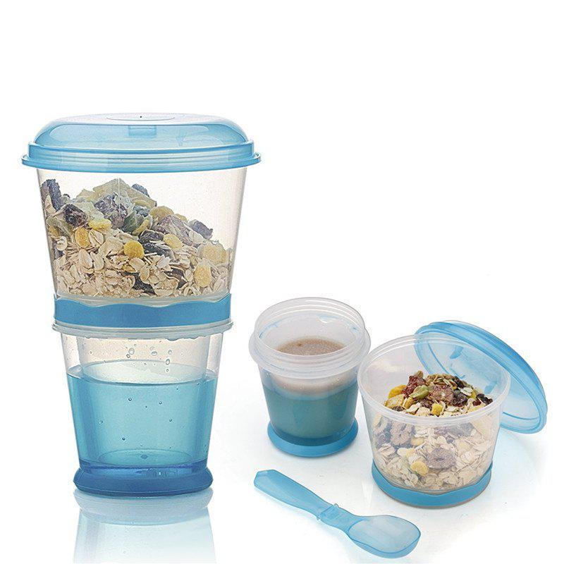 Breakfast Drink Cups Portable Yogurt and Cereal To-Go Container Cup semi automatic manual plastic cup liquid container sealer 220v boba bubble tea juice drink film coverllid sealing machine