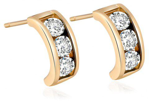 Simple and Exquisite Character Zircon Earrings ERZ0226 - GOLD