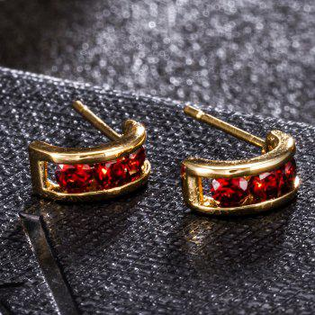 Simple and Exquisite Character Zircon Earrings ERZ0226 - RUBY RED