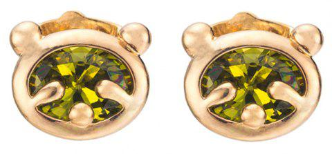 Little Bear Fine Zircon Earrings ERZ0232 - FOREST GREEN
