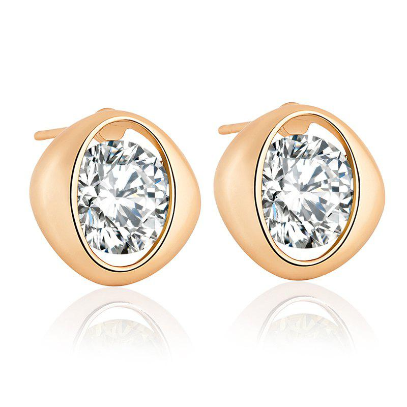 Simple and Exquisite Character Zircon Earrings ERZ0233 - WHITE