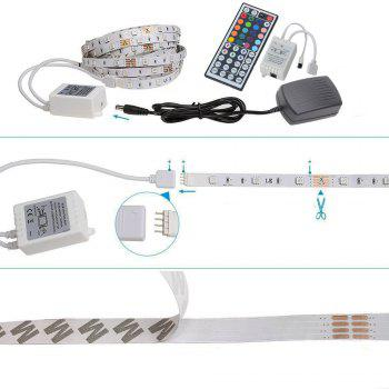 HML 5050 x150 RGB LED Lights Kit  with 44key IR Remote Controller and AU-plug - BLACK