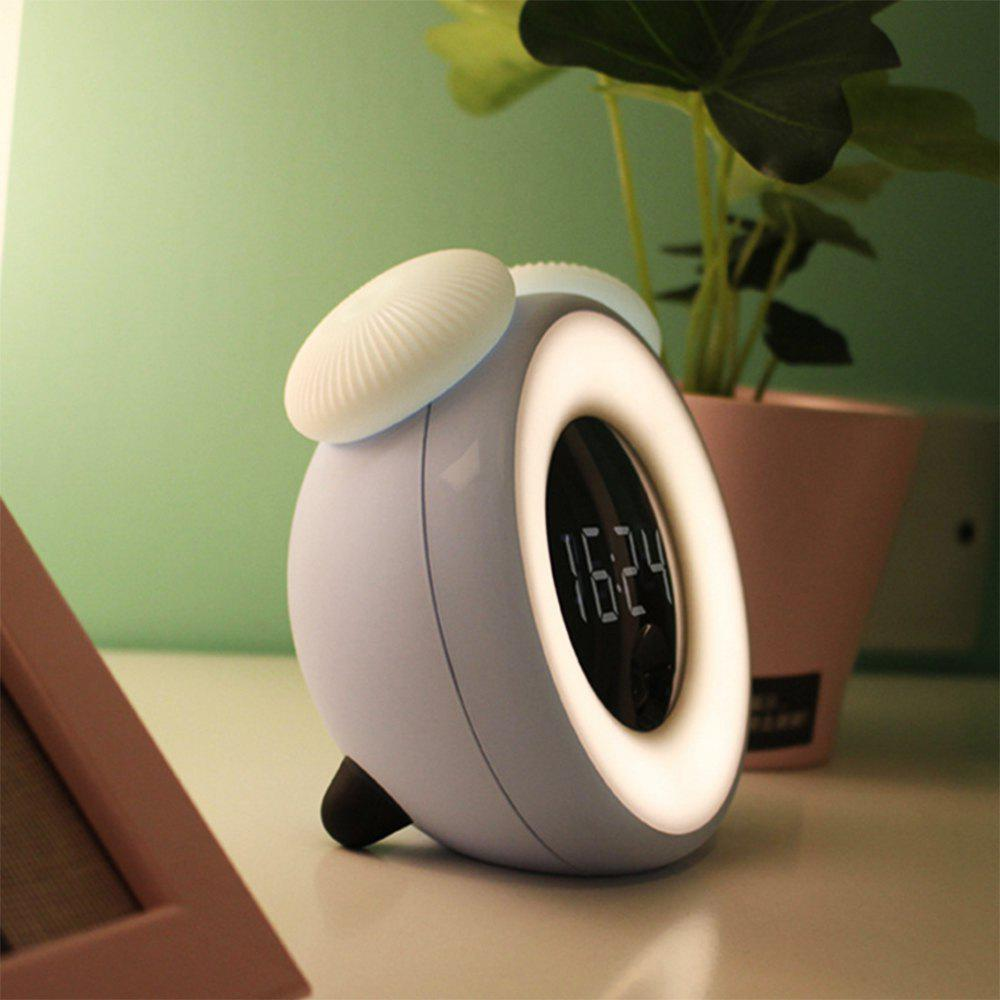 BRELONG Smart Timing Sleep Bedside Sensor Alarm Clock Night Light - CRYSTAL BLUE