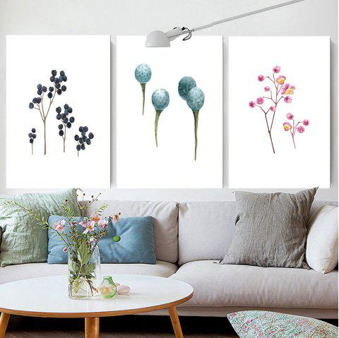 W159 Nordic Style Unframed Art Wall Canvas Prints for Home Decorations 3 PCS - multicolor A 60CM X 90CM X 3PC