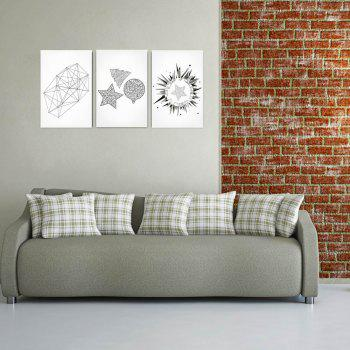 W161 Geometry Unframed Art Wall Canvas Prints for Home Decorations 3 PCS - multicolor A 20CM X 30CM X 3PC