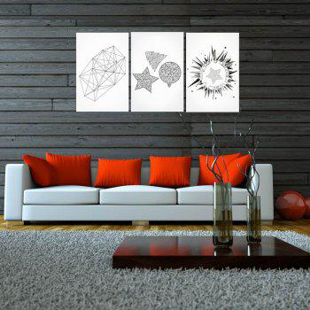 W161 Geometry Unframed Art Wall Canvas Prints for Home Decorations 3 PCS - multicolor A 50CM X 75CM X 3PC