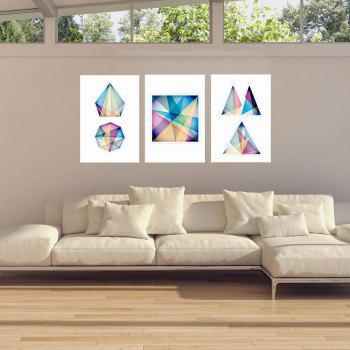 W166 Geometry Unframed Art Wall Canvas Prints for Home Decorations 3 PCS - multicolor A 55CM X 80CM X3PC