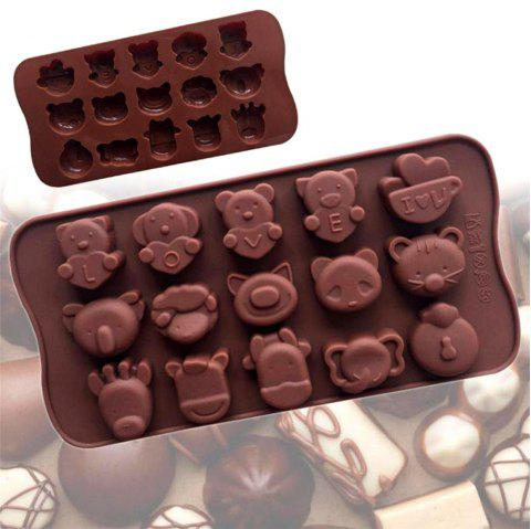 Food-Grade Silicone Cake Chocolate Ice Mould Love Animals Soaps Baking Moulds - COFFEE