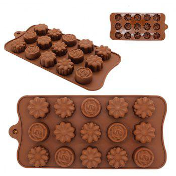 The New Baking Mold 15 Even Flower-Like Egg Tarts Silicone Cake Creative - COFFEE
