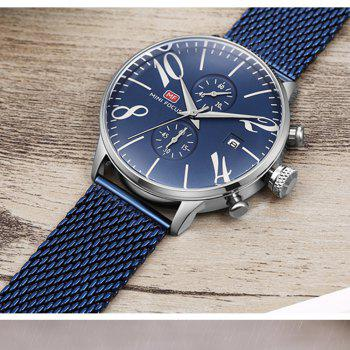 MINIFOCUS Men Luxury Famous Male Quartz Wrist Watch - BLUE