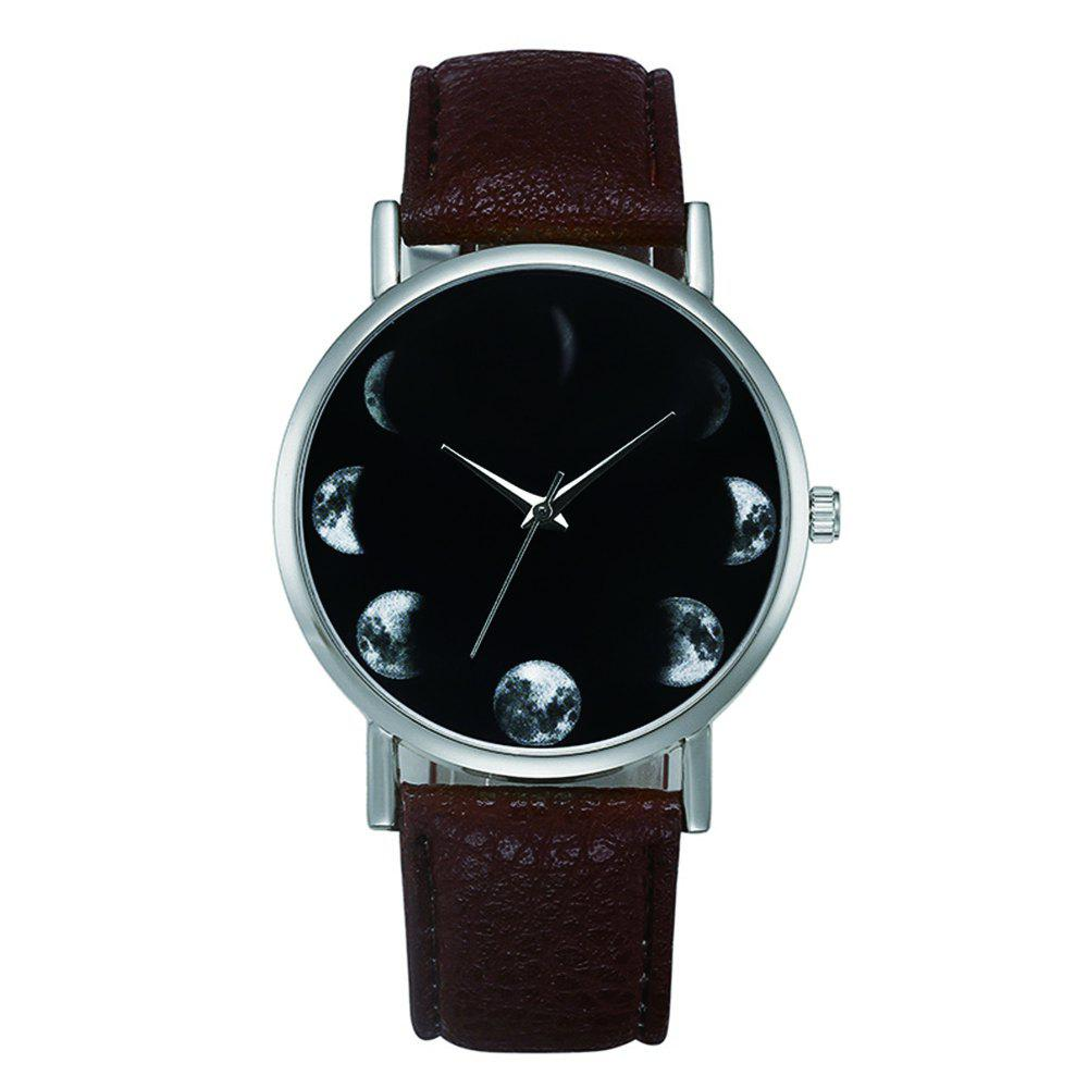 New Fashion Retro Design Alloy Leather Strap Analog Quartz Wrist Watch - ROSY FINCH