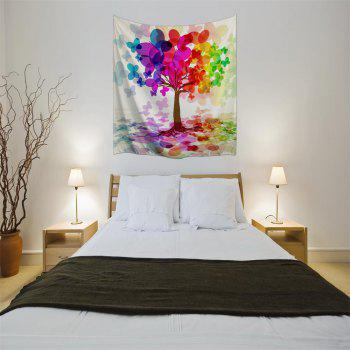 Colorful Tree 3D Printing Home Wall Hanging Tapestry for Decoration - multicolor A W153CMXL130CM