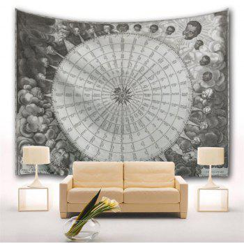 Compass 3D Printing Home Wall Hanging Tapestry for Decoration - multicolor A W229CMXL153CM