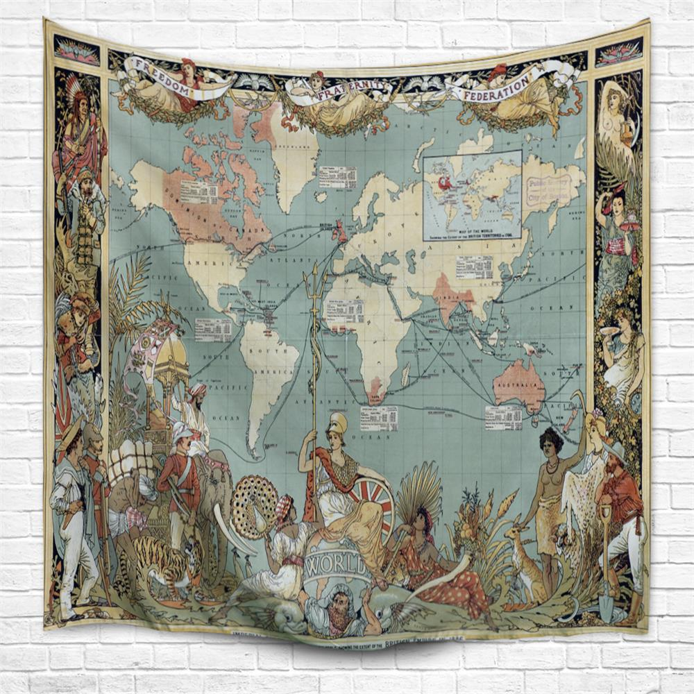 The Sun Never Sets Empire 3D Printing Home Wall Hanging Tapestry for Decoration - multicolor A W230CMXL180CM