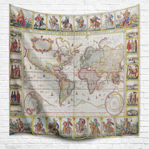 Knights World Map 3D Printing Home Wall Hanging Tapestry for Decoration - multicolor A W229CMXL153CM