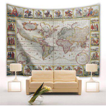 Knights World Map 3D Printing Home Wall Hanging Tapestry for Decoration - multicolor A W203CMXL153CM
