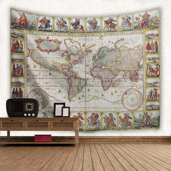 Knights World Map 3D Printing Home Wall Hanging Tapestry for Decoration - multicolor A W230CMXL180CM