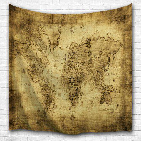 Sheepskin Map 3D Printing Home Wall Hanging Tapestry for Decoration - multicolor A W153CMXL102CM