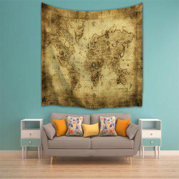 Sheepskin Map 3D Printing Home Wall Hanging Tapestry for Decoration - multicolor A W203CMXL153CM