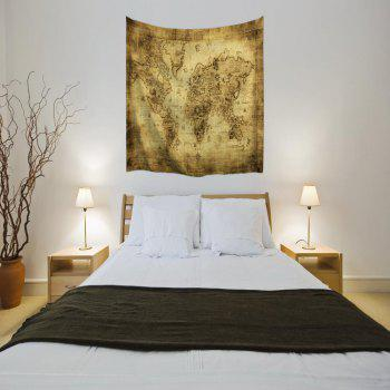 Sheepskin Map 3D Printing Home Wall Hanging Tapestry for Decoration - multicolor A W229CMXL153CM