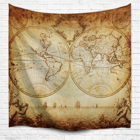 World Map 3D Printing Home Wall Hanging Tapestry for Decoration - multicolor A W229CMXL153CM