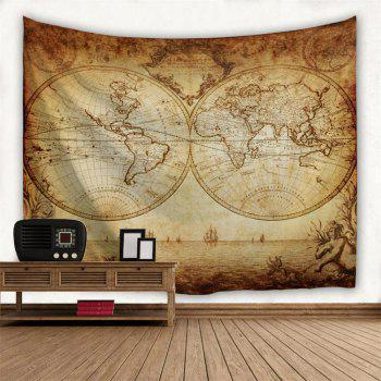 World Map 3D Printing Home Wall Hanging Tapestry for Decoration - multicolor A W153CMXL102CM