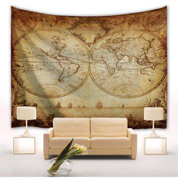 World Map 3D Printing Home Wall Hanging Tapestry for Decoration - multicolor A W200CMXL180CM