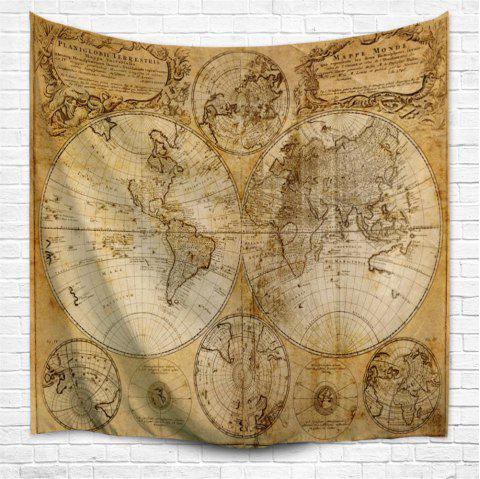Multifaceted World Map 1746 3D  Home Wall Hanging Tapestry for Decoration - multicolor A W153CMXL130CM