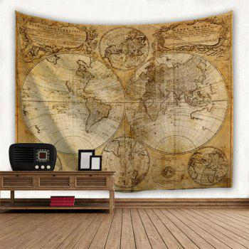 Multifaceted World Map 1746 3D  Home Wall Hanging Tapestry for Decoration - multicolor A W203CMXL153CM